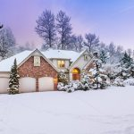 Evergreen Trees Growing Around a Home in Winter Covered in Snow - How to Care for Evergreens Blog